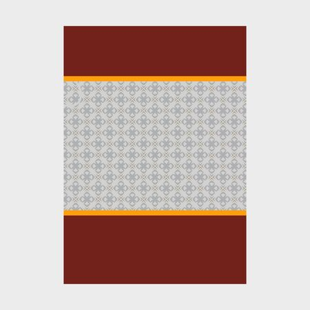 Minimal luxury Cover design with pattern element for menu, invitation card, banner book design vector