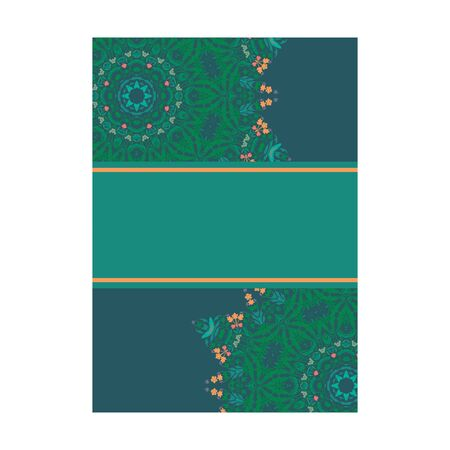 cover page design mandala ornamnet for menu, invitation card, banner book design vector