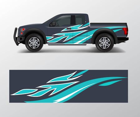 custom livery race rally off road car vehicle sticker and tinting. Car wrap decal design vector