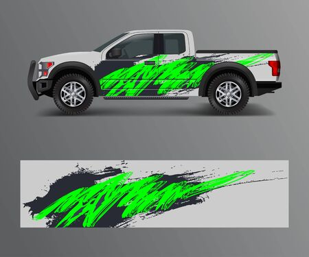 Racing background for vinyl wrap and decal for truck and vehicle Graphic vector Illustration