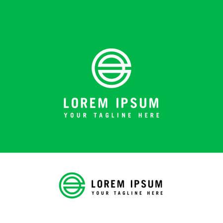 initial letter logo e inside e rounded lowercase logo