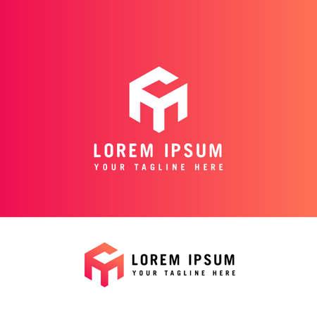 Letter CM Logo with hexagon concept. Template Illustration Business Company Vector Logo Design.