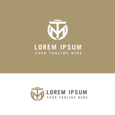 Creative modern stylish connected circular shaped M T initial based letter icon logo. Ilustração