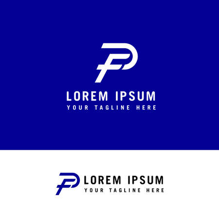 letter FP, PF logo, F and P, monogram line style Logo design concept template. Ilustração