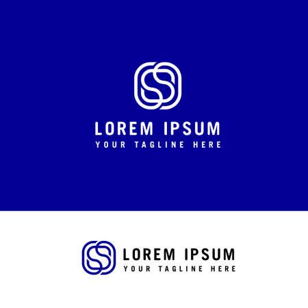 Letter S line logo design. Linear creative minimal monogram symbol. Graphic alphabet symbol for corporate business identity Ilustração