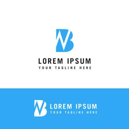 Initial based clean and minimal Logo. BN NB B N letter creative monochrome monogram icon symbol.