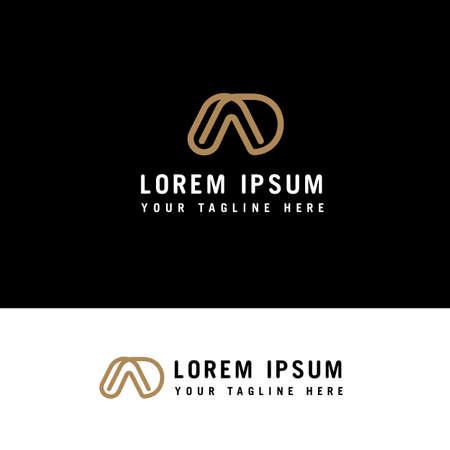 DA or AD line logo design inspiration with minimalist style.