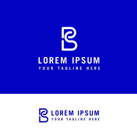 SB logo design - line art vector logo design concept template. Ilustração