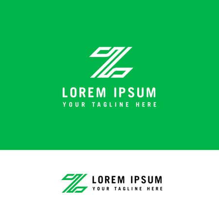 Letter Z Line Logo Design Element with minimalist style.
