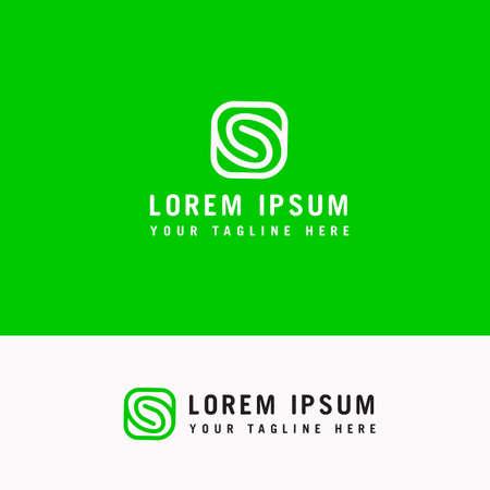 S Simple Letter Minimal alphabet linear logo. Business card template. Vector logo Element