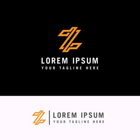 Letter Z Modern Line Logo Design Element Ilustração