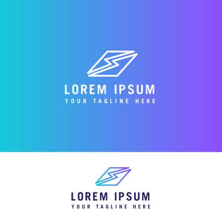S letter line logo design concept template.