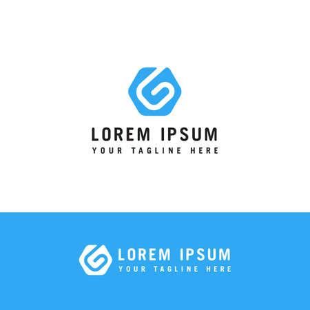Modern letter g logo template vector design Ilustracja