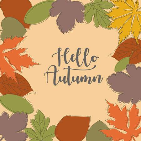 autumn background, eps10