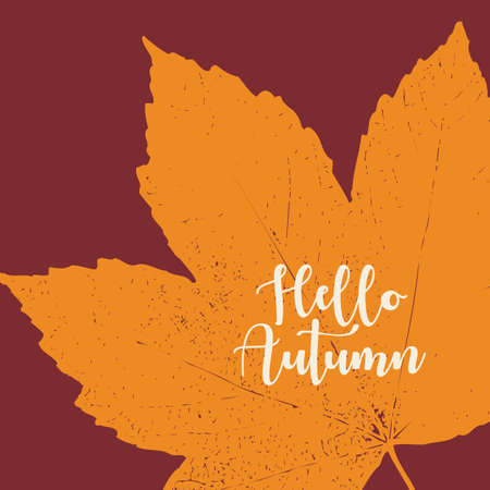 Orange grunge autumn vector background illustration Illustration
