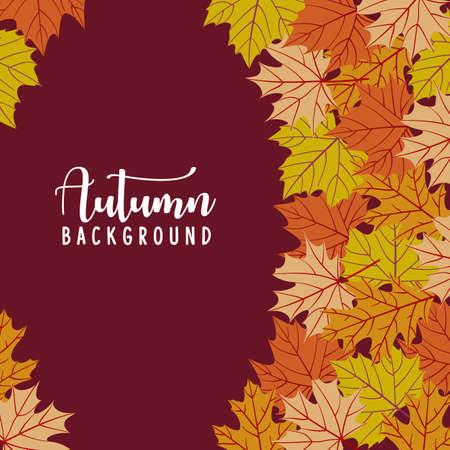 Autumn leaves background. Vector illustration.