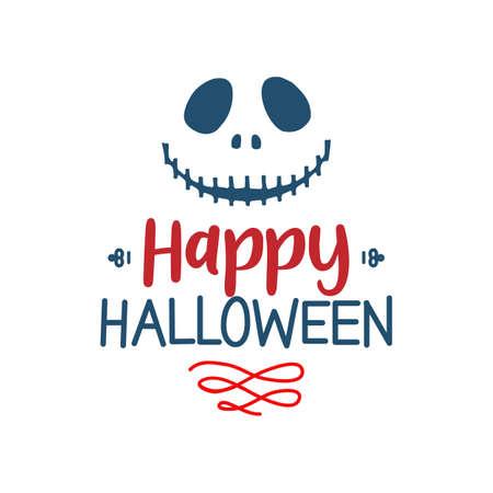 Happy Halloween quote. Halloween quote design