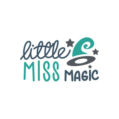 little miss magic quote. Halloween quote design