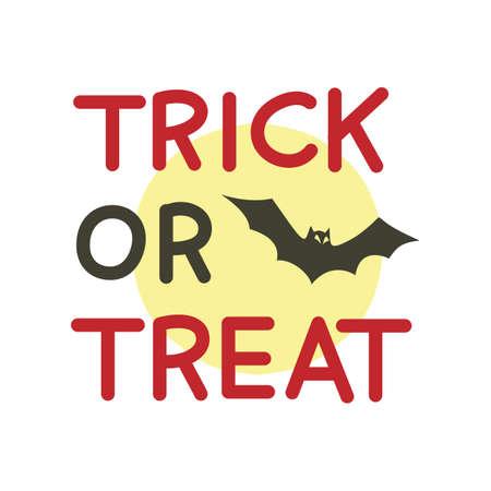 Trick or Treat Halloween Text Ilustração