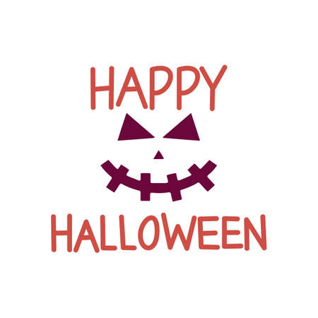 happy Halloween word quote. Halloween quote design