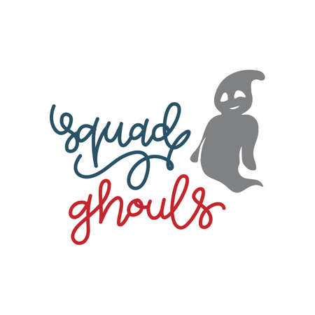 Squad Ghouls Gift T shirt Design Funny Halloween Tee Shirts Custom Graphic Tee. Halloween Gift Idea, Halloween T-Shirt, Halloween Vector graphic for t shirt, Vector graphic,