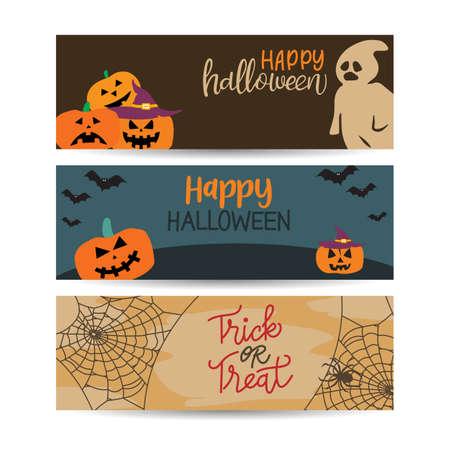 halloween banners template design vector illustration Ilustração