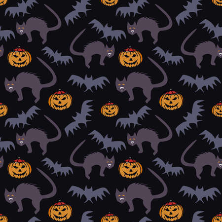 Seamless pattern for Halloween. Stock fotó - 157837653