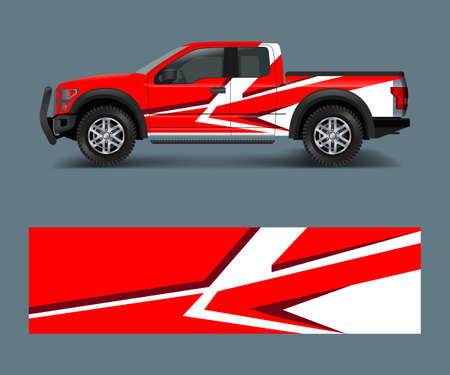 custom livery race rally offroad car vehicle sticker and tinting. Car wrap decal design vector Vettoriali