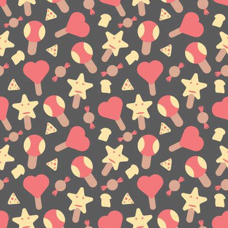 Ice cream elements seamless pattern background Stock Illustratie