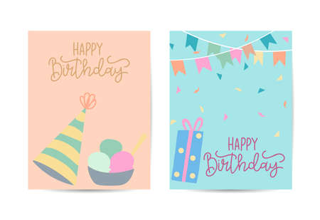 Seamless background pattern with many different colored and isolated sweets lollipops and ice cream vector illustration