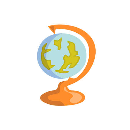 Globe flat design Illustration, Vector Design