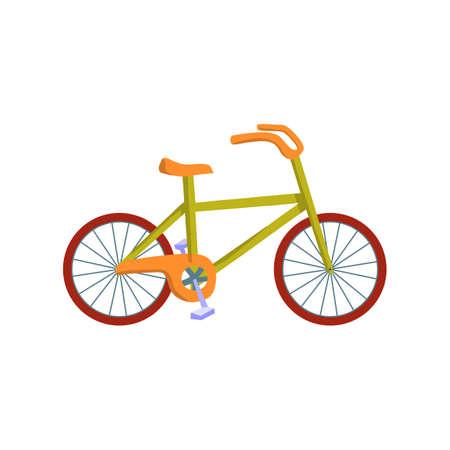 Bicycle transport, flat icon design vector illustration