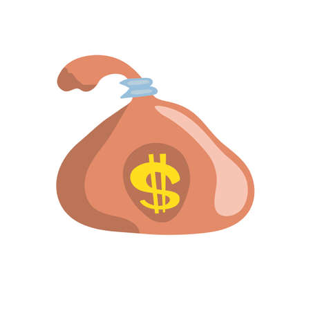 money bag flat design, vector illustration