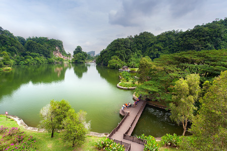 Beautiful Lake, Gunung Lang, Ipoh, Perak, Malaysia Stock Photo