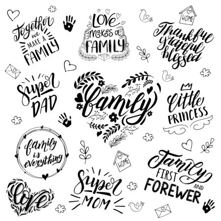 lettering and caligraphy quotes about the family