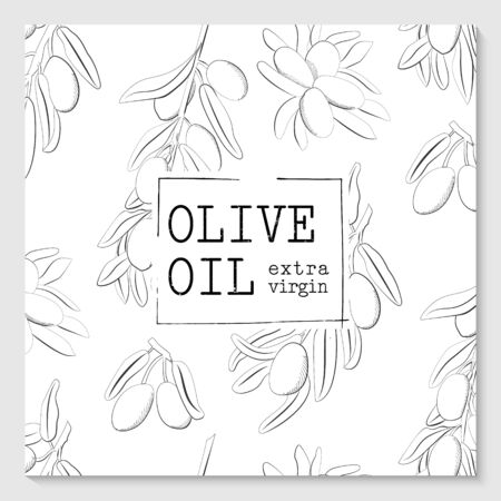 Vector packaging design elements and templates for olive oil extra virgin labels and bottles Иллюстрация