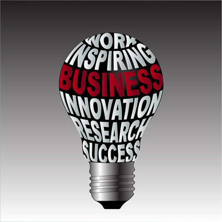 Bulb of work inspiration business innovation research success photo