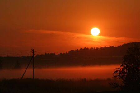 Sunrise in Moscow region, Russia photo