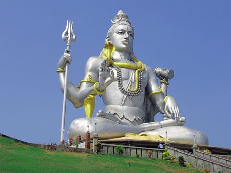 vishnu: Hundu god Shiva in Murudeswar, India Stock Photo