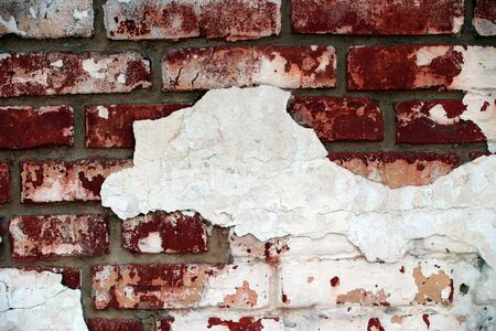 Red grunge brickwall is dangerous photo