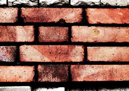 Red grunge brickwall is dangerous photo