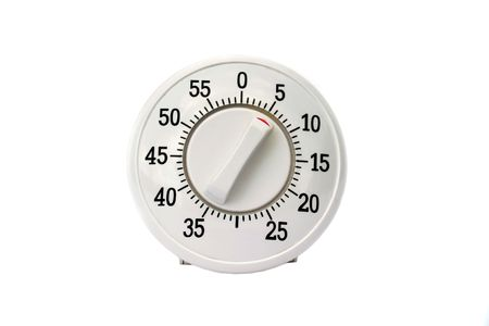 Kitchen timer isolated on white photo