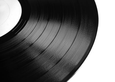 vinyl plate isolated on white photo