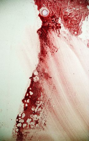 Blood spot on the grunge wall Stock Photo - 6785677