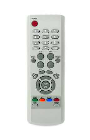 Grey remote control for TV set photo