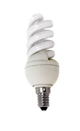 conscious: Isolated energy conscious bulb lamp Stock Photo