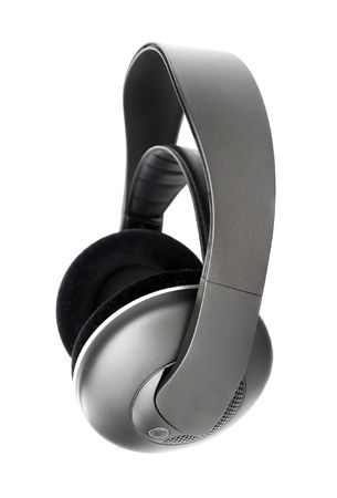 Hi-fi wireless headphones isolated on white Stock Photo