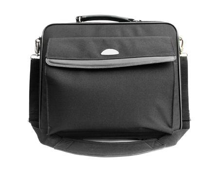 Laptop bag isolated on white photo