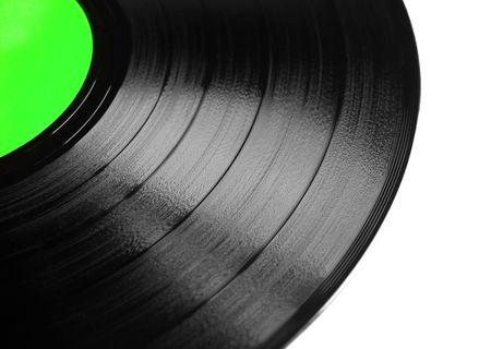 vinyl plate isolated on white Stock Photo - 6785438