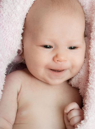 One month old baby in the blanket Stock Photo - 6785057